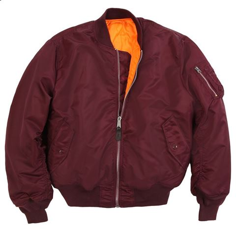 Picture of Alpha Industries Men's MA-1 Bomber Flight Jacket Maroon