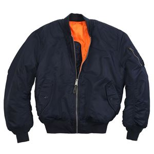 Picture of Alpha Industries Men's MA-1 Bomber Flight Jacket Replica Blue