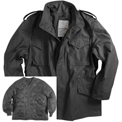 Picture of Alpha Industries M-65 Field Coat with Liner Black
