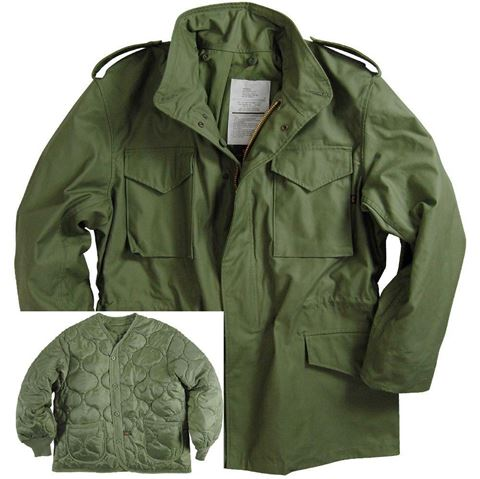Picture of Alpha Industries M-65 Field Coat with Liner Olive Green