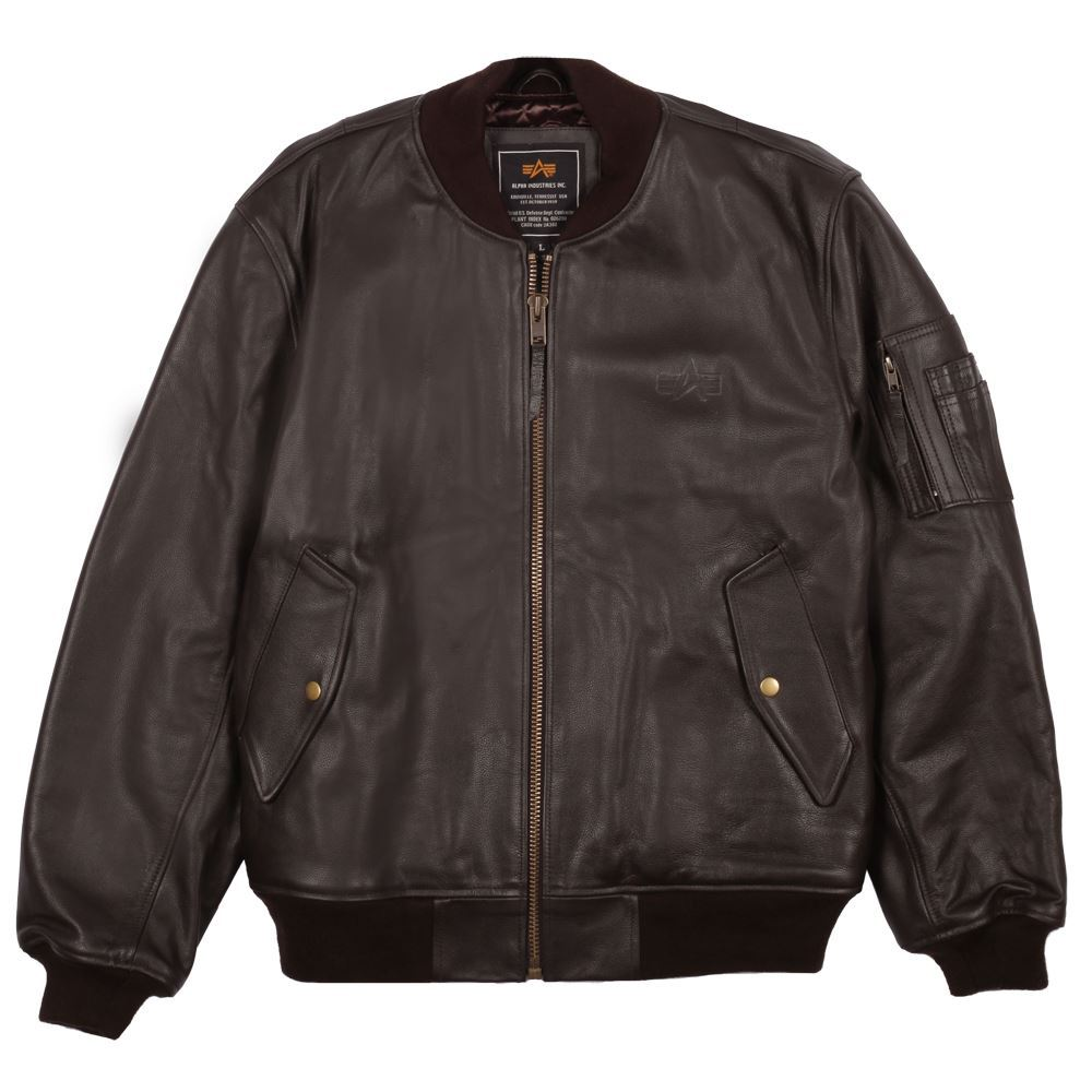 Fine Jacket Inc. Alpha Industries Leather MA-1 Flight Jacket ...