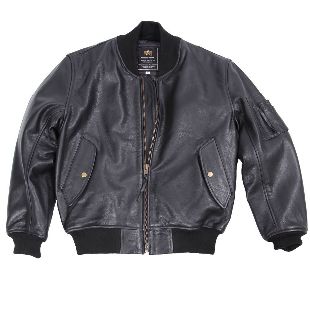 Fine Jacket Inc. Alpha Industries Leather MA-1 Flight Jacket ...