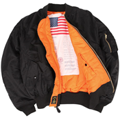 Picture of Alpha Industries MA-1 Blood Chit Flight Jacket/Bomber Black