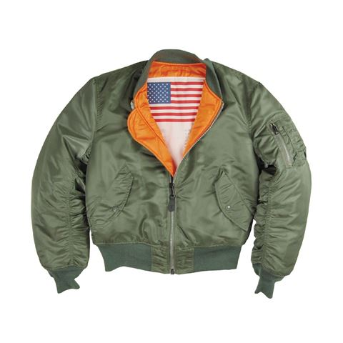 Picture of Alpha Industries MA-1 Blood Chit Flight Jacket/Bomber Sage Green