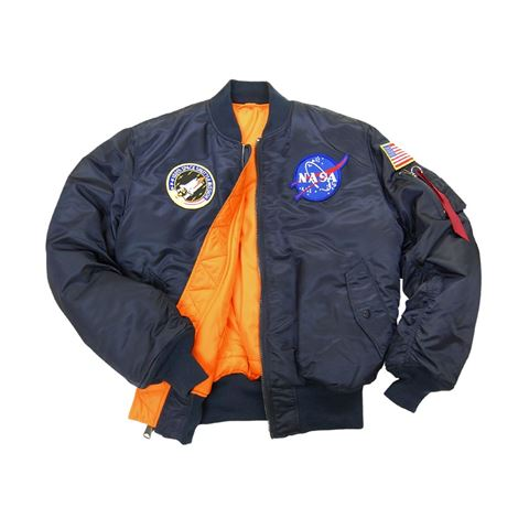 Picture of Alpha Industries MA-1 NASA Flight Jacket Replica Blue