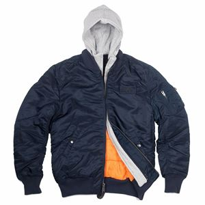 Picture of Alpha Industries D-Tec Flight Jacket Replica Blue/Orange