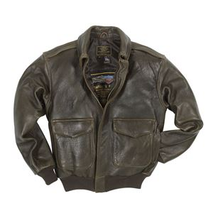 "Picture of Cockpit USA ""100 Mission"" A-2 Pilot's lambskin Leather Jacket Brown Made in USA"