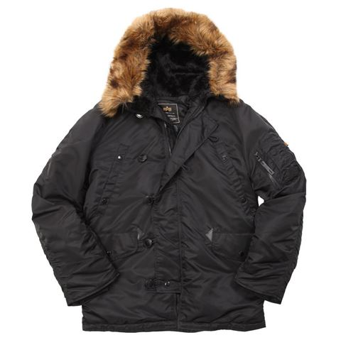 Picture of ALPHA INDUSTRIES N-3B PARKA BLACK