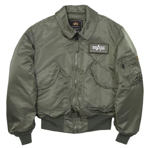 Alpha Industries Men's Sage Green CWU 45P Flight Jacket