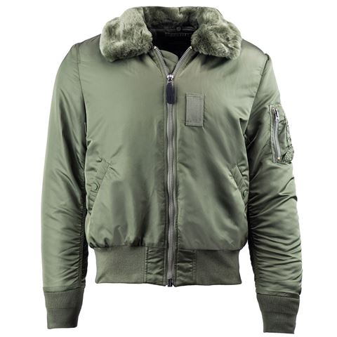 6659cd5fbce Picture of Alpha Industries Slim B-15 Flight Jacket Sage Green