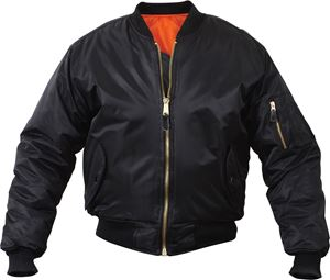 Picture of Rothco Air Force MA-1 Reversible Bomber Flight Jacket Black