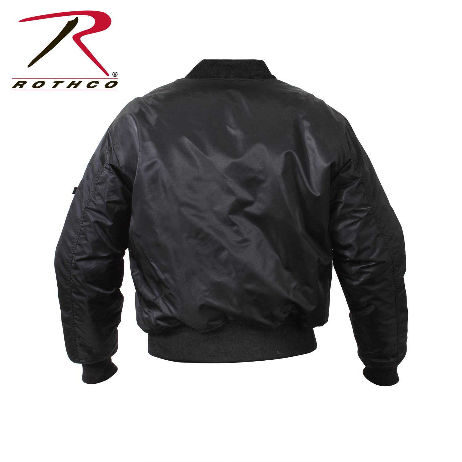 f29423b0 ... Picture of Rothco Air Force MA-1 Reversible Bomber Flight Jacket Black  ...