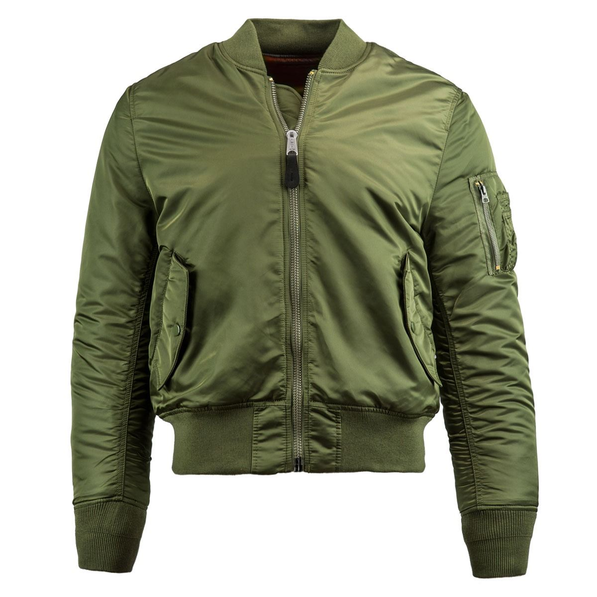 Picture of Alpha Industries Men s Slim Fit MA-1 Bomber Flight Jacket Sage  Green ... 26477ba58ef