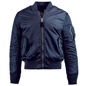Picture of Alpha Industries Men's Slim Fit MA-1 Bomber Flight Jacket Replica Blue