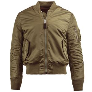 Picture of Alpha Industries Men's Slim Fit MA-1 Bomber Flight Jacket Vintage Olive