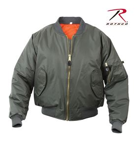 Picture of Air Force MA-1 Reversible Bomber Coat Flight Jacket Sage Green