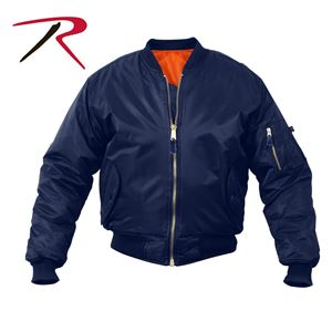 Picture of Air Force MA-1 Reversible Bomber Coat Flight Jacket Navy Blue