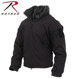 Picture of Rothco 3-in-1 Spec Ops Soft Shell Jacket w/Removable Fleece Liner Black #3943