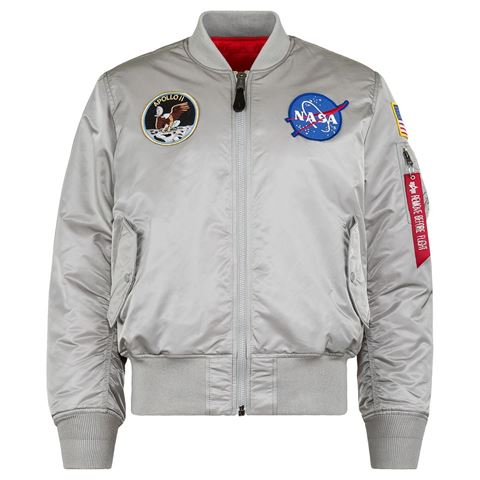 Picture of Alpha Industries Apollo MA-1 Flight Jacket Bomber New Silver