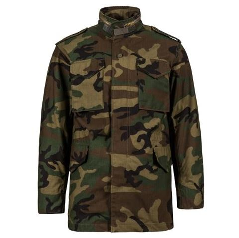 Picture of Alpha Industries M-65 Field Coat with Liner Woodland Camo