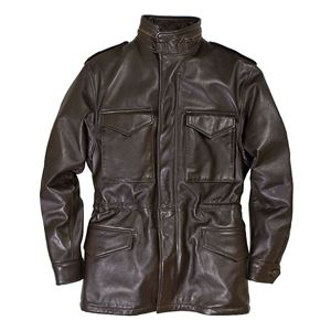 Picture of COCKPIT USA Leather M-65 Field Jacket Brown Made in USA