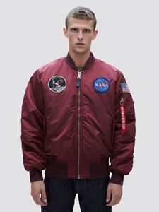 Picture of Alpha Industries MA-1 Apollo Battlewash Flight Jacket Bomber Red