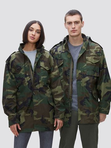 Picture of Alpha Industries M-65 Field Coat Woodland Camo