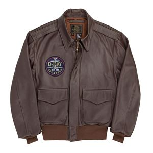 Picture of Cockpit USA 75th Anniversary Limited Edition D-Day A-2 Flight Jacket Brown Made in USA