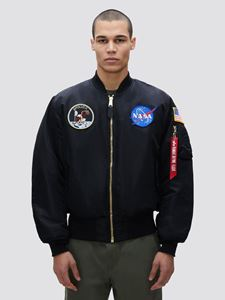 Picture of Alpha Industries Apollo MA-1 Flight Jacket Bomber Black,