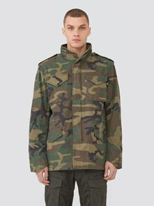 Picture of Alpha Industries M-65 Defender Field Coat Woodland Camo